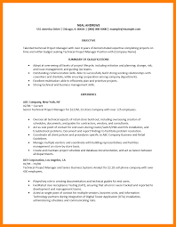 Qa Project Manager Resume 6 Technical Project Manager Resume Letter Signature
