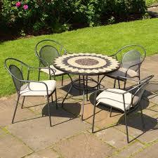 Mosaic Bistro Table Set Stylish Garden Furniture Bistro Set Bistro Table And Chair Garden