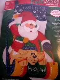 felt applique christmas stocking kit