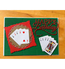 birthday card poker themed card corrugated