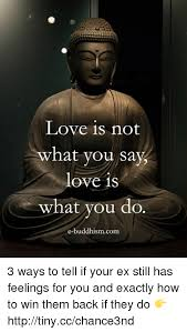 Whatcha Say Meme - love is not what you say love is what you do e buddhism com 3 ways