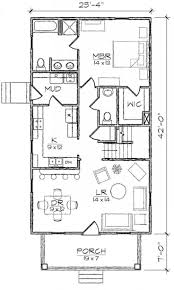long narrow home plans