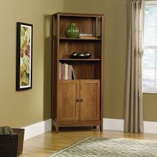sauder library bookcase library bookcase with doors american hwy