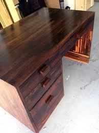 Plank Desk Rare Cocobolo Wood Desk Don Shoemaker For Sale At 1stdibs