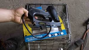 Electric Staple Gun Upholstery Harbor Freight 3 In 1 Electric Stapler Youtube