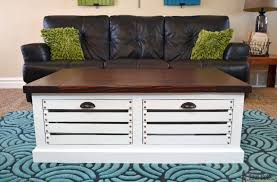 coffee table crate coffee table ideas diy instructions wine