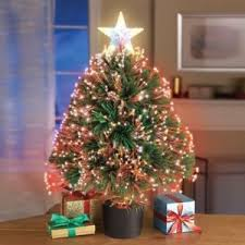 Color Changing Christmas Trees - color changing fiber optic table top artificial christmas tree ebay