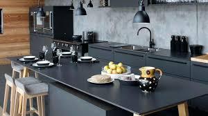 cuisine avec plan de travail en bois cuisine noir bois cethosia me