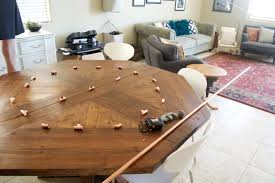 Copper Dining Room Table Seesaws And Sawhorses Diy A Copper Pipe Chandelier