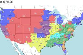 Tv Reception Map Denver Broncos At San Diego Chargers Tv Broadcast Map Nfl Week