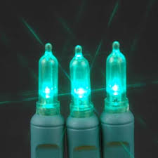 green 35 light traditional candle tip led lights on