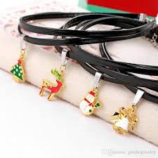 black choker necklace diy images 2018 new christmas chokers necklaces cartoon santa claus jewelry jpg