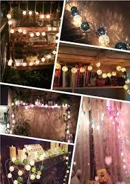 rattan ball fairy lights mixed 20pcs sets light blue rattan ball string fairy lights for