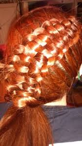 zipper braid with checkboard using ribbon hair pinterest