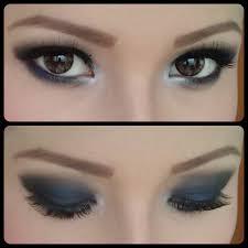 Aplikasi Eyeshadow Sariayu my simple tutorial blue smokey