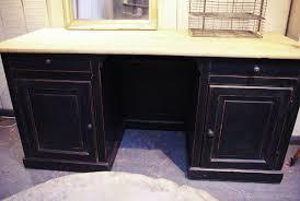 bureau bois noir bureau noir et bois bureau adulte design couleur noir et bois