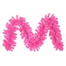 pink garland vickerman 9 hot pink garland with 70 pink mini lights