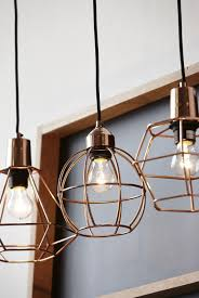 lighting unusual caged copper pendant light fixture for barn