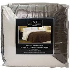 Black Down Alternative Comforter Amy Miller Home Full Queen Reversible Down Alternative Comforter