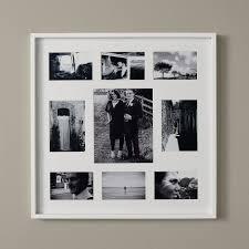 slim wooden photo frame 9 aperture white the white company