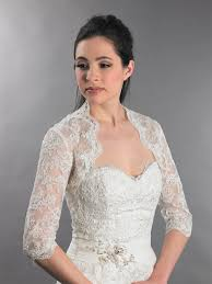wedding dress with bolero 3 4 sleeve bridal lace wedding bolero jacket lace 080