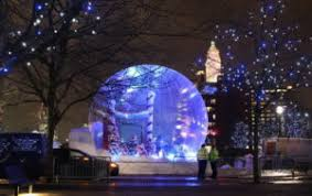 christmas event structures and decor stretch event tents usa