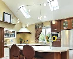 vaulted kitchen ceiling ideas vaulted ceiling kitchen lighting track lighting sloped ceiling