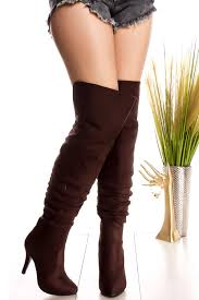 s boots knee high brown brown side zipper suede the knee high heel boots s