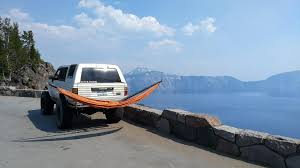 jeep hammock camping epic hammock over crater lake or hammocks
