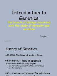 chapter 1 introduction to the study of genetics 1 genetics dna