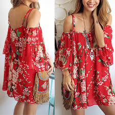 women evening cocktail beach casual mini floral party short