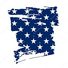 Design Of American Flag American Flag Stars Background With Brush Stroke For Your Design