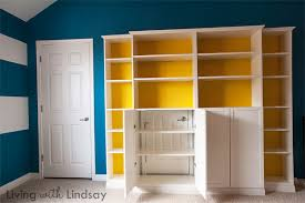 Storage Bookcase With Doors Hiding An Eyesore With A Built In Bookcase Makely