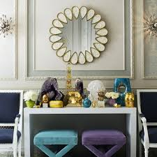petal mother of pearl mirror modern furniture jonathan adler