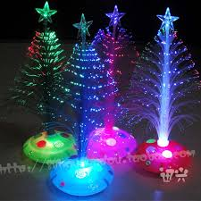 25cmchristmas tree fiber optic light colorful light emitting the