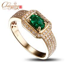 aliexpress buy gents rings new design yellow gold 14k yellow gold emerald diamond mens ring promotion new
