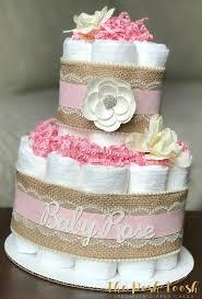 Shabby Chic Baby Shower Cakes by Shabby Chic Diaper Cake Baby Shower By Theposhtoosh On Etsy