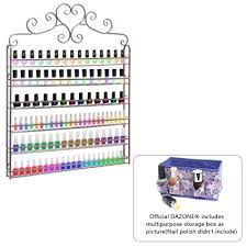 buy dazone diy mounted 6 shelf nail polish wall rack organizer