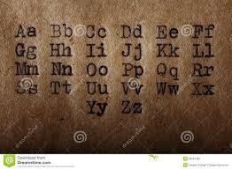 latin typography tattoo l alphabet latin police a imprimé sur la machine à écrire de