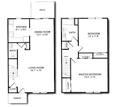 one bedroom one bath house plans bright and modern duplex house plans 2 br 1 floor with garage 9