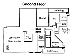 Physical Therapy Clinic Floor Plans Facility Map Dayton Va Medical Center Ohio