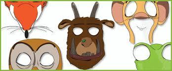 gruffalo role play masks free early years u0026 primary teaching