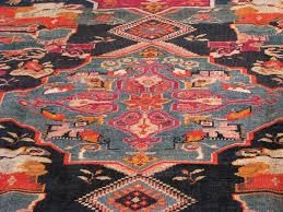 Red And Blue Persian Rug by Kazak Antique Rugs Vintage Persian Rugs