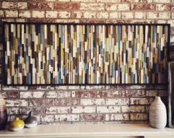 New Bedroom Wall Reclaimed Mosaic Wood Tiles Modern by Reclaimed Wood Art Etsy