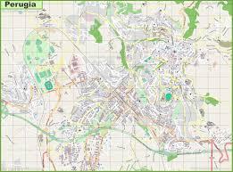 map of perugia large detailed map of perugia