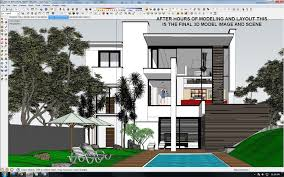 tutorial sketchup modeling tutorial exterior night scene