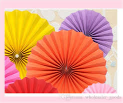 hanging paper fans 2017 multi color paper fan decorations multi colors 20cm 30cm 40cm