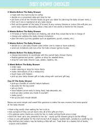 9 checklist examples for baby showers