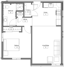bed 1 bedroom floor plan