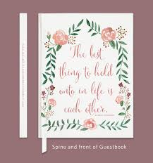 wedding book quotes quote wedding guestbook floral guestbook custom wedding